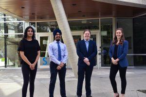 2020-21 UFVSUS Executive pictured L to R: Rajdeep Dhaliwal, Prabhpreet Singh, Duncan Heard, Jessica Levesque